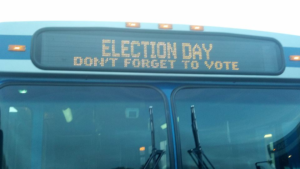 Vote on Bus Banner